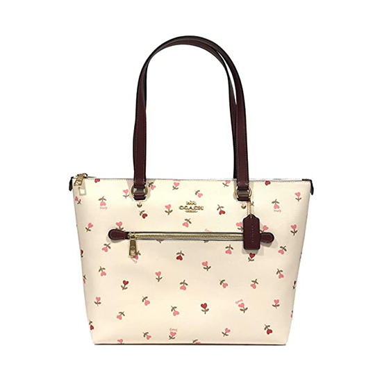 COACH Crossgrain Leather Gallery Tote Im/Chalk Multi Outlet