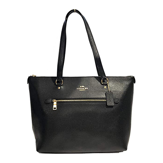 COACH Crossgrain Leather Gallery Tote Black Outlet
