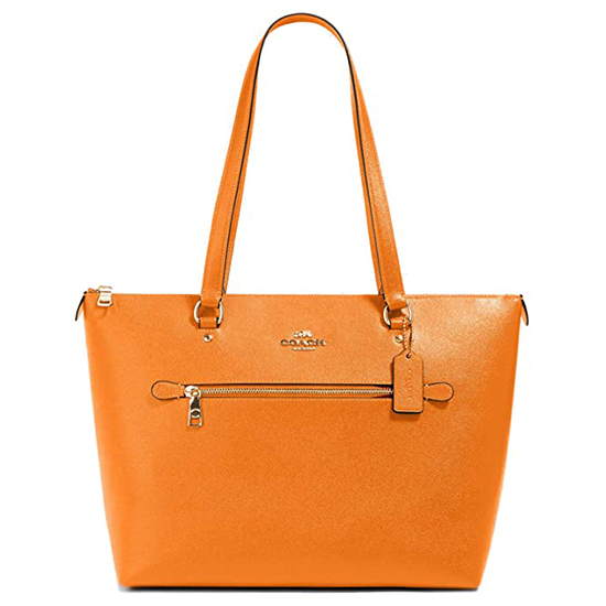 COACH Crossgrain Leather Gallery Tote Sunbeam Outlet