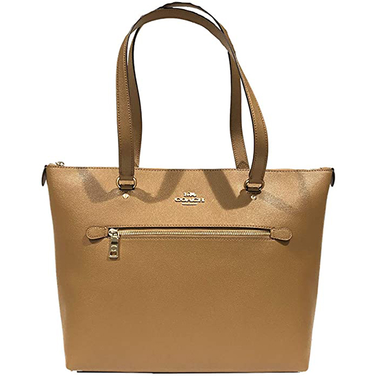 COACH Crossgrain Leather Gallery Tote Brown Outlet