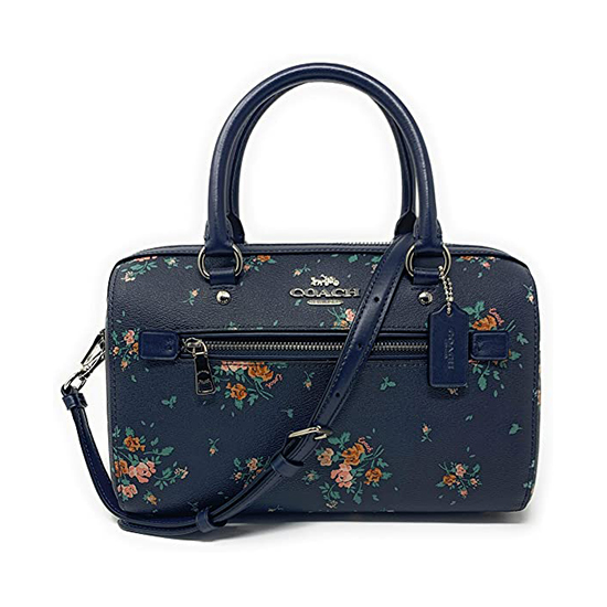 Coach Rowan Satchel In Signature Canvas Midnight Multi Outlet
