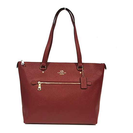 COACH Crossgrain Leather Gallery Tote Im/1941 Red Outlet