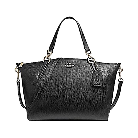COACH Pebbled Leather Small Kelsey Satchel New Black Outlet