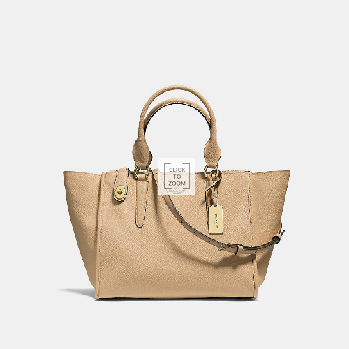 Coach Outlet Store & COACH CROSBY carryall LIGHT GOLD/NUDE