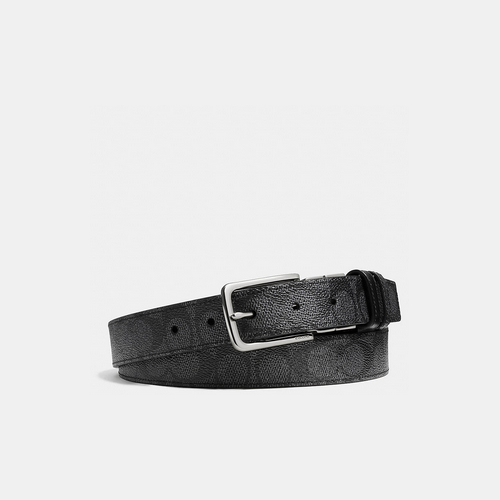 Coach USA Store & COACH DRESS weston cut-to-size reversible signature c belt CHARCOAL