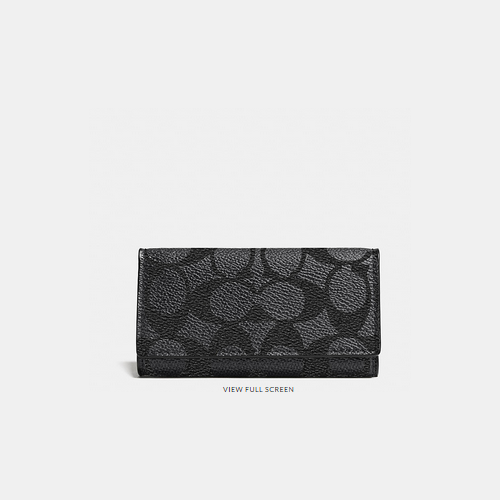 Coach USA Store & COACH 4 ring key case CHARCOAL