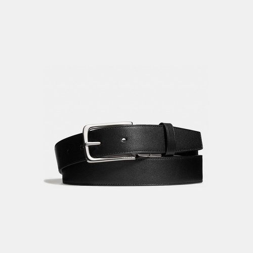 Coach USA Store & COACH DRESS weston cut-to-size reversible leather belt BLACK/MAHOGANY