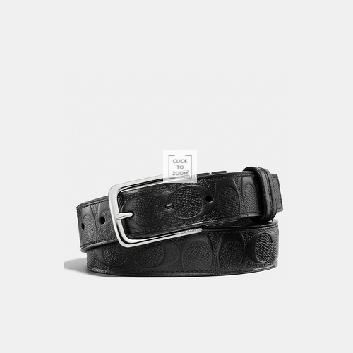 Coach USA Store & COACH DRESS weston cut-to-size signature c crossgrain leather reversible belt BLACK/BLACK