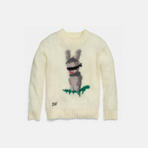 Coach USA Store & COACH x baseman emmanuel hare ray sweater CREAM