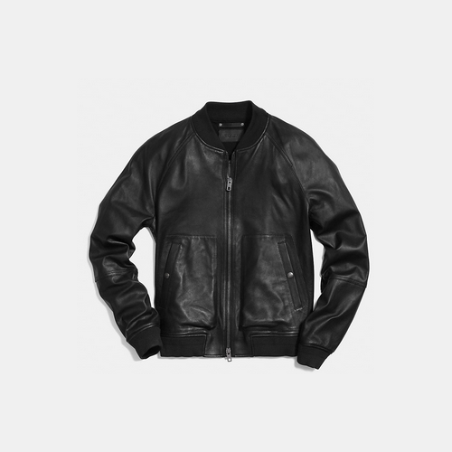Coach USA Store & COACH LEATHER aviator jacket BLACK