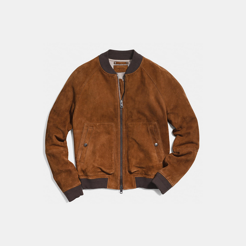 Coach USA Store & COACH SUEDE aviator jacket SADDLE
