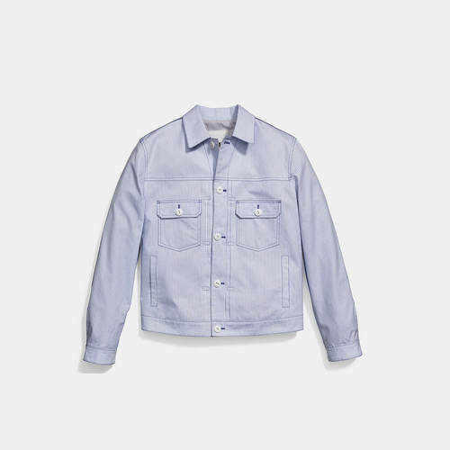 Coach USA Store & COACH OXFORD jean jacket BLUE