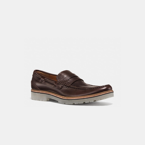 Coach USA Store & COACH HOUSTON penny loafer MAHOGANY