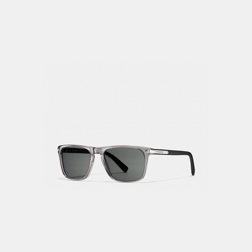 Coach USA Store & COACH TAG temple square sunglasses GREY/MATTE BLACK