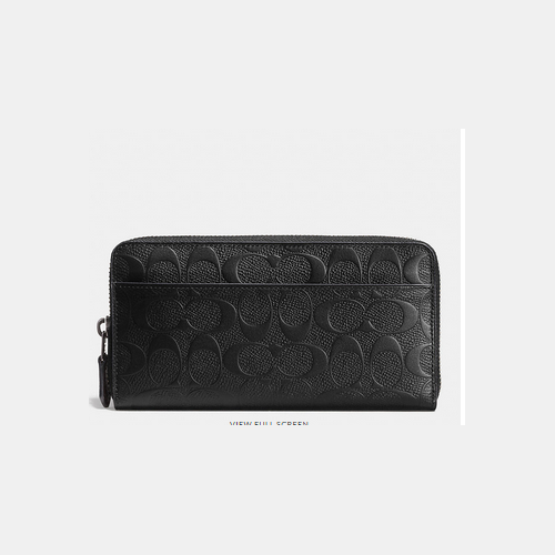 Coach USA Store & COACH ACCORDION wallet BLACK