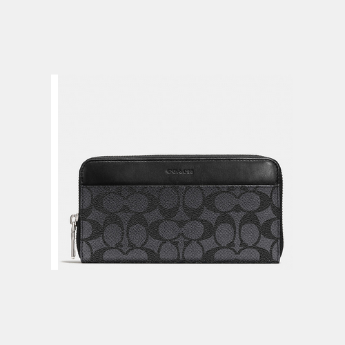 Coach USA Store & COACH ACCORDION wallet CHARCOAL