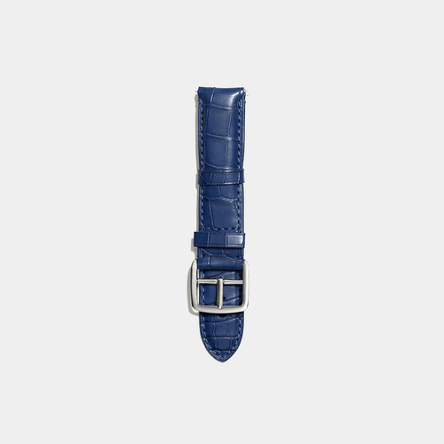 Coach USA Store & COACH BLEECKER watch strap in crocodile NAVY