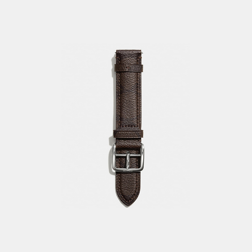 Coach USA Store & COACH BLEECKER signature leather watch strap BROWN/DARK BROWN