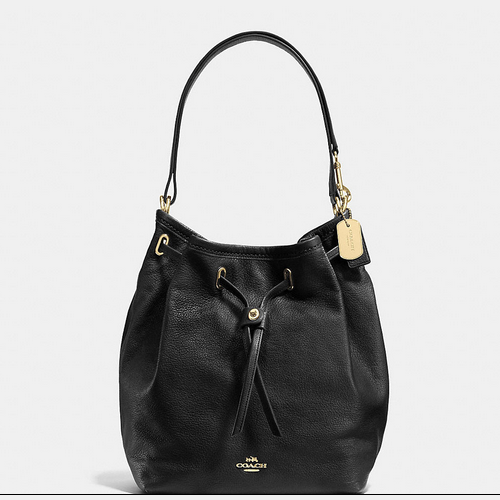Coach USA Store & COACH TURNLOCK tie bucket bag LIGHT GOLD/BLACK