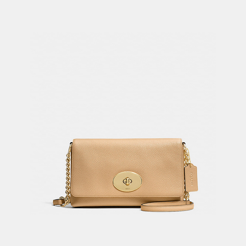 Coach USA Store & COACH CROSSTOWN crossbody LIGHT GOLD/NUDE