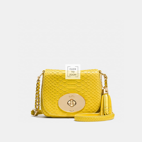 Coach USA Store & COACH LIV crossbody LIGHT GOLD/YELLOW