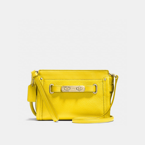Coach USA Store & COACH swagger wristlet LIGHT GOLD/YELLOW