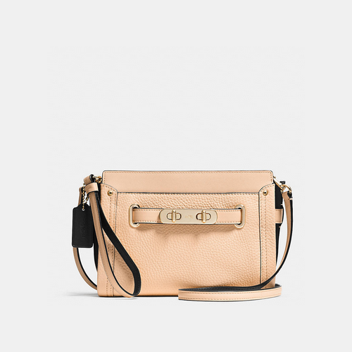 Coach USA Store & COACH swagger wristlet LIGHT GOLD/APRICOT MULTI