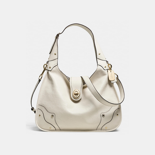 Coach USA Store & COACH RHYDER hobo LIGHT GOLD/CHALK