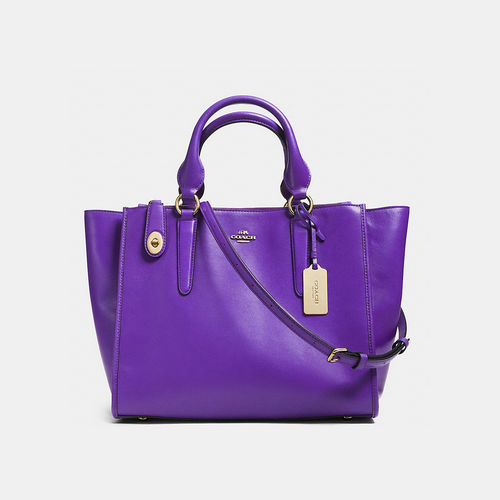 Coach USA Store & COACH CROSBY carryall LIGHT GOLD/VIOLET