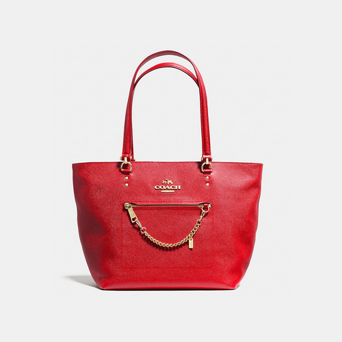 Coach USA Store & COACH TOWN car tote LIGHT GOLD/RED