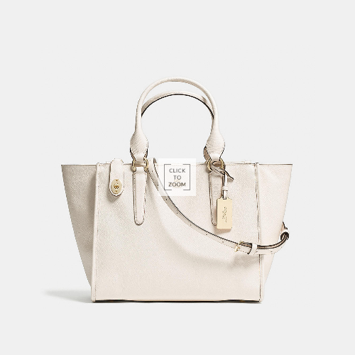 Coach USA Store & COACH CROSBY carryall LIGHT GOLD/CHALK