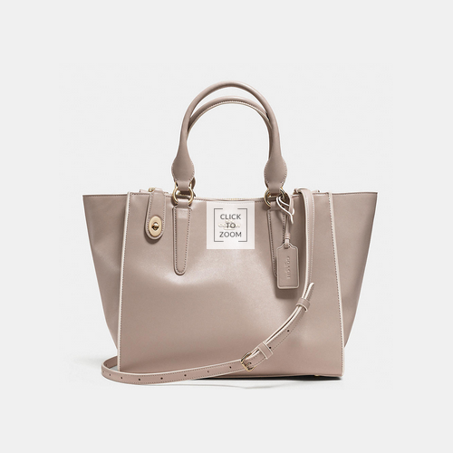 Coach USA Store & COACH CROSBY carryall LIGHT GOLD/GREY BIRCH/CHALK