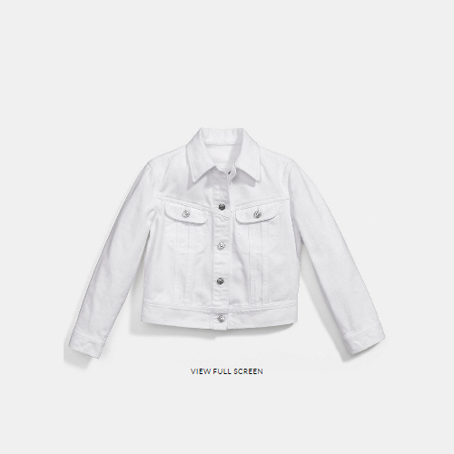 Coach USA Store & COACH WHITE denim jean jacket WHITE