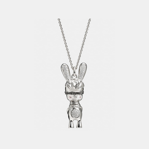 Coach USA Store & COACH x baseman long pave emmanuel hare ray pendant necklace SILVER/MULTI