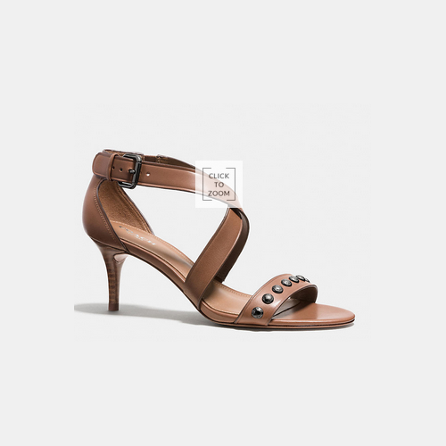 Coach USA Store & COACH MADISON heel CINNAMON/CINNAMON