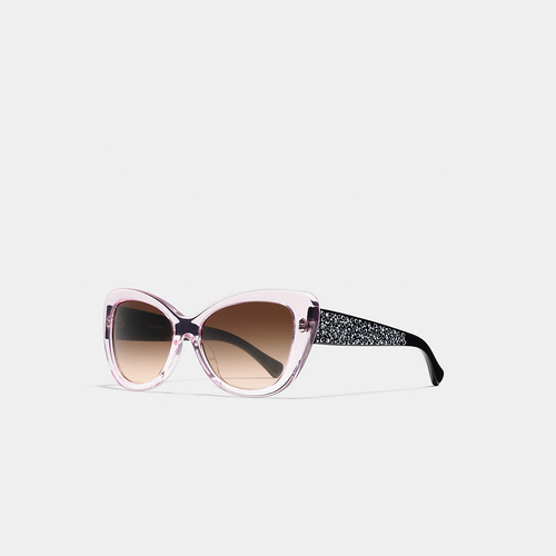 Coach USA Store & COACH SIGNATURE spray cat eye sunglasses PINK CRYSTAL/BLACK