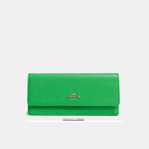 Coach USA Store & COACH SOFT wallet LIGHT GOLD/GREEN