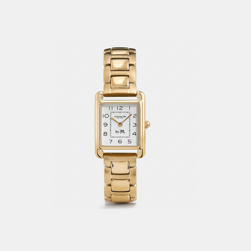 Coach USA Store & COACH PAGE gold plated bracelet watch GOLD PLATED
