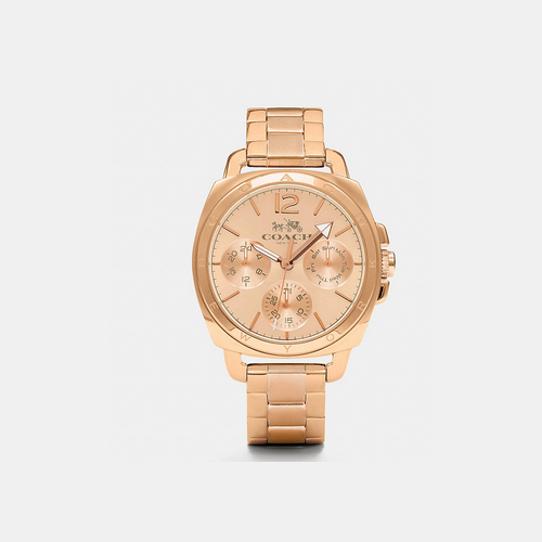 Coach USA Store & COACH BOYFRIEND 38mm rose gold plated multifunction bracelet watch ROSEGOLD