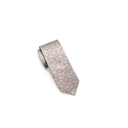 MICHAEL KORS MEN Floral Silk Tie BEIGE