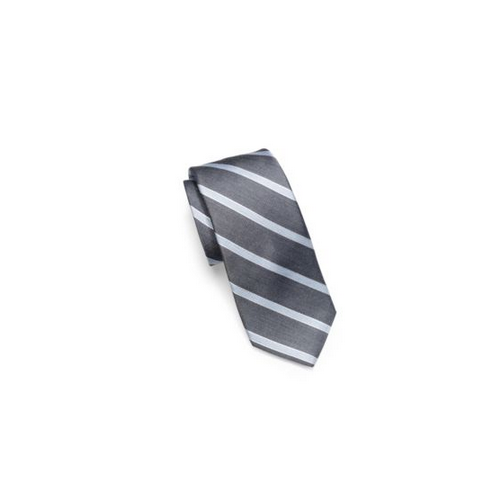 MICHAEL KORS MEN Striped Woven-Silk Tie GREY