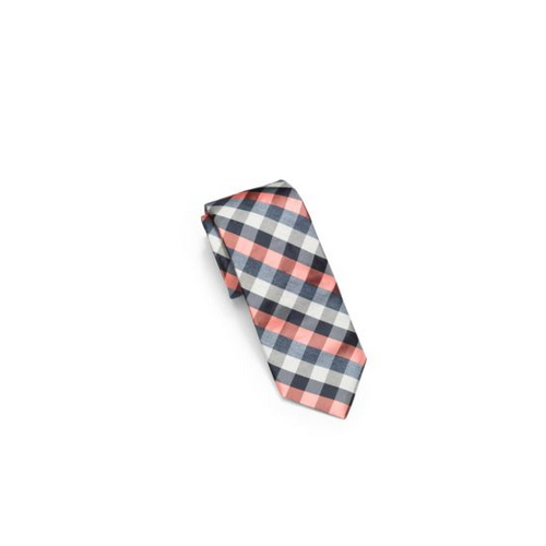 MICHAEL KORS MEN Check Woven-Silk Tie SORBET