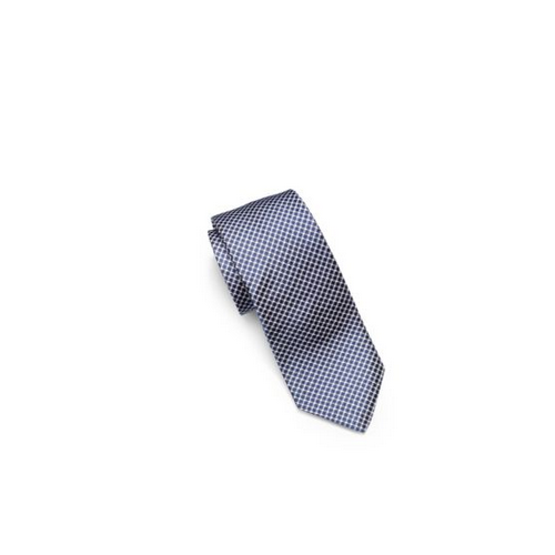 MICHAEL KORS MEN Houndstooth Woven-Silk Tie NAVY