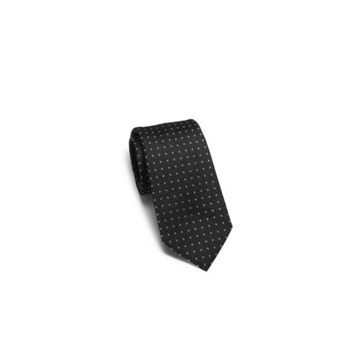 MICHAEL KORS MEN Dotted Woven-Silk Tie BLACK
