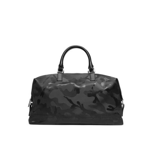 MICHAEL KORS MEN Kent Camouflage Nylon Duffel BLACK