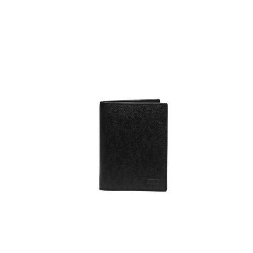 MICHAEL KORS MEN Jet Set Logo Passport Wallet BLACK