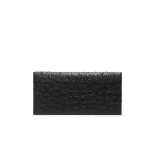 MICHAEL KORS MEN Ostrich Pocket Wallet BLACK