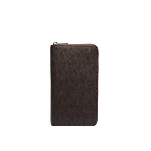 MICHAEL KORS MEN Jet Set Logo Travel Wallet BROWN