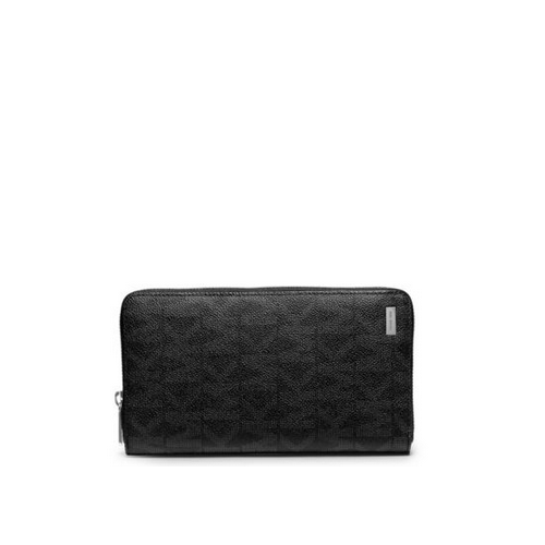 MICHAEL KORS MEN Jet Set Men\'s Logo Large Wallet BLACK
