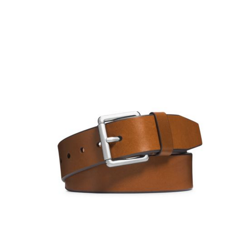 MICHAEL KORS MEN Leather Buckle Belt LUGGAGE